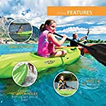 Lifetime Youth Wave Kayak with Paddle, 6 Feet, Green 12 Specifically designed for kids ages 5 and up; 130 LB weight capacity Lightweight 18 Lb. design with molded finger handles on each side for easy transport Sloped at the end with a swim-up step allowing rider to easily re-enter the kayak from the water