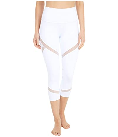 ALO High-Waist Mesmerize Capris (White) Women