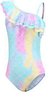 Girls One Piece Swimsuits Mermaid Bathing Suits Summer Swimsuit 2-14 Years