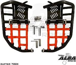 Yamaha Raptor 700 Raptor 700R (2006-2019) YFM 700 (2013-2019) Propeg Nerf Bars Black Bars w/Red Net