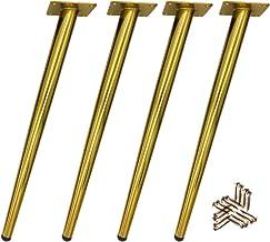 15cm//6in Patas de Muebles de Madera,Mesa de Madera Patas,Patas de Apoyo Muebles C/ónicas,Patas de Sof/á de Repuesto,con Accesorios de Montaje,4 Piezas