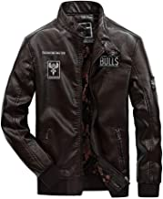 Xinggo Mens Casual Fashion Leather Motorcycle Antique Jacket with Armour,Motorbike Leather Jacket Motorcycle Touring Coat