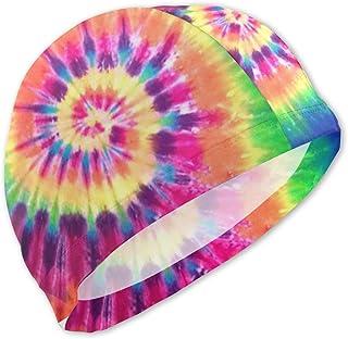 Gorros de baño Tie Dye para niños Gorro de baño para niños