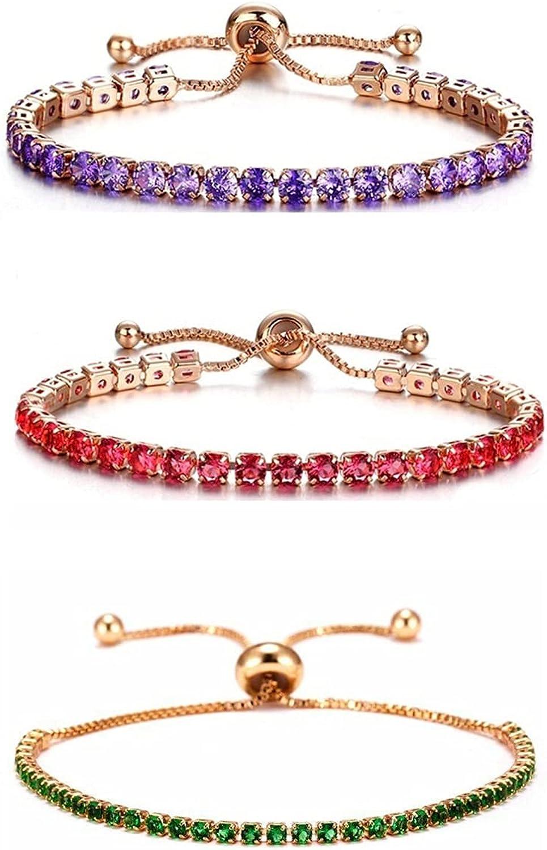 Max 41% OFF 3Pcs Tennis Bracelets Classic price Fashion Zirconia Sparkling Cubic T