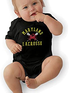 Maryland Crab Lacrosse Toddler//Infant Girls Short Sleeve Shirts Ruffles Shirt Tee Jersey for 2-6T