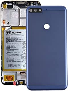 Battery cover JRC Back Cover with Side Keys for Huawei Honor Play 7C(Black) Mobile phone accessories (Color : Blue)