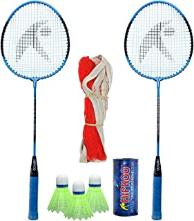 Hipkoo HR 15 Badminton Combo with Badminton Bag (2 Rackets, Net, Shuttlecock Pack of 3) Badminton Kit