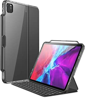 i-Blason iPad 10.2 インチ ケース 第8世代 2020 第7世代 2019公式Smart Keyboard併用 背面クリアカバー 保護ケース 黑