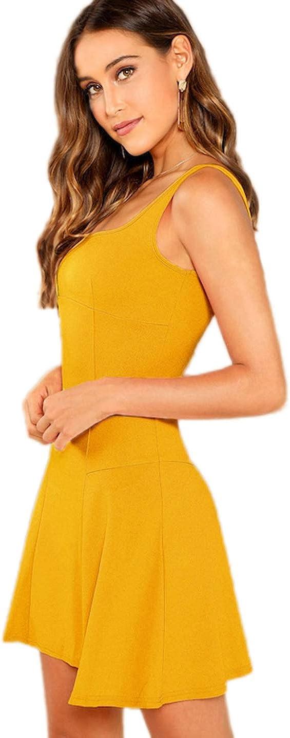 Romwe Womens Sleeveless Zipper A Line Party Mini Bodycon Dress