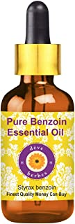 Deve Herbes Pure Benzoin Essential Oil (Styrax benzoin) 100% Natural Therapeutic Grade Steam Distilled 50ml (1.69oz)