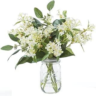 Petals Silkflowers Wild Lilac & Seeded Eucalyptus Flower Arrangement