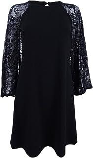 Women's Plus Size Sequined Lace Capelet Dress
