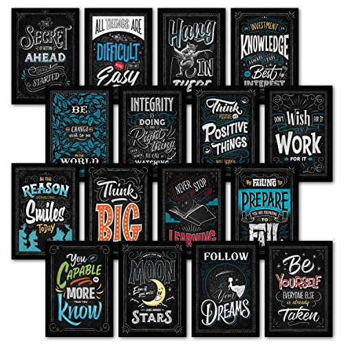 16 Motivational Classroom Wall Posters - Inspirational Quotes for Students - Teacher Classroom Decorations 13 x 19 (Paper) 001