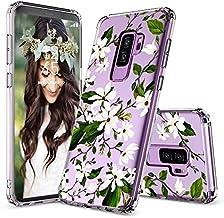 MOSNOVO Galaxy S9 Plus Case, Galaxy S9 Plus Clear Case, Girl Floral Magnolia Flower Pattern Clear Design Plastic Phone Cas...