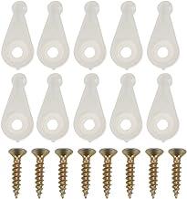 Hemoton 20 Stks Glas Deur Retainer Clips Kit Plastic Glas Panel Clips Clear Spiegel Houder Clips voor Kast Deur met Schroe...