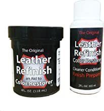 Leather Refinish Color Restorer Dye & Cleaner/Preparer Combo Kit