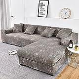 WXQY Fundas de impresión 3D Fundas de sofá elásticas elásticas Protección para Mascotas Funda de sofá Esquina en Forma de L Funda de sofá Todo Incluido A26 4 plazas