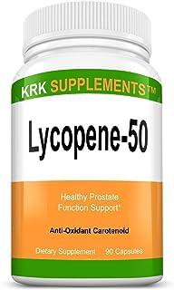 1 Bottle Lycopene 50mg 90 Capsules KRK Supplements