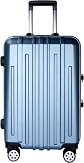"""Stylish and durable Wheels Travel Rolling Boarding,22""""24"""" 26"""" Inch 100% Aluminium Spinner Aluminium Convenient Trolley Case,Super Storage Luggage Bag, high quality (Color : Blue, Size : 24inch)"""