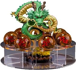 Dragon Ball Set Shenron Figura de acción con 7 Piezas 3.5 cm Dragon Balls y Estante de exhibición PVC Anime Estatua Modelo