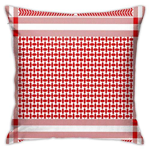 Tamianice Home Gift Kussen Sofa Kussen Arabisch Katoen Sjaal Bloemen Geometrische Motieven Saudi Schoonheid Paar feestdecoratie 18X18in