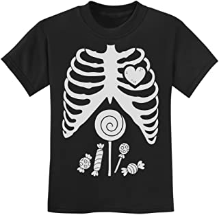 Funny Skeleton Candy Rib-cage X-Ray Halloween Costume Youth Kids T-Shirt