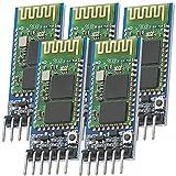 AZDelivery 5 x HC-05 HC-06 Modulo Bluetooth Wireless Modulo ricetrasmettitore RF RS232 seriale compatibile con Arduino incluso E-Book!