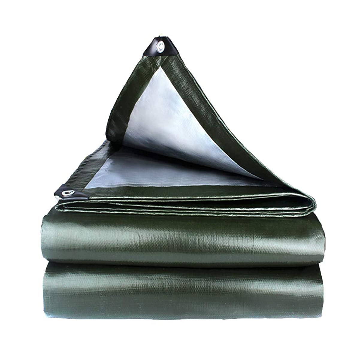 ZXXY Waterproof Tarpaulin, Army Green Tarp Sheet for Backyard Deck, Balcony, Porch, Pergola and Outdoor Camping Tent Cover, 180g/Square