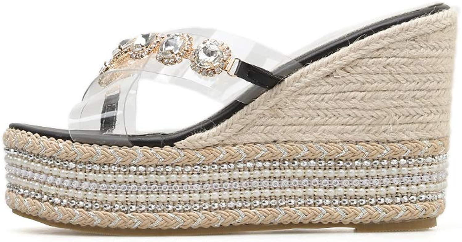 c45ade581faa3 Women's Sandals and Slippers Fashionable Outer Beach Wild Pearl ...