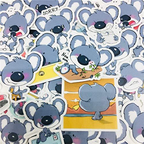 PMSMT 40 pezzi adesivi Meng Koala Misti per Car Styling Bici telefono Moto Laptop bagaglio da viaggio adesivo Divertente Decalcomanie Bomba