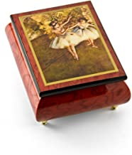 Gorgeous Handcrafted Red Wine Music Box by Ercolano - Over 400 Song Choices - The Dancers on Stage Degas Can't Help Falling in Love with You