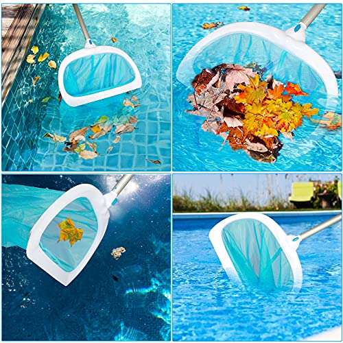 Anzid Upgraded Pool Skimmer Net, Heavy Duty Leaf Rake for Cleaning Swimming Pool