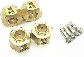 Treal Brass Widen Wheel Hubs Hex Pins 4pcs-Set for Traxxas TRX-4 RC Car +3mm