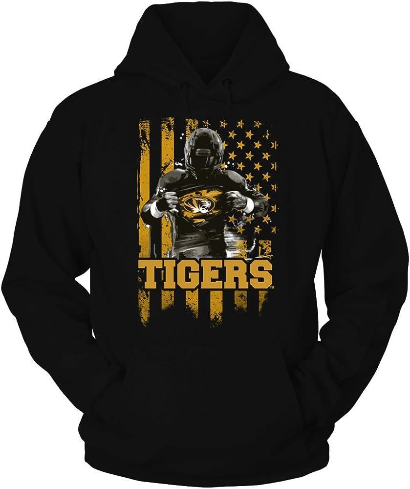 FanPrint Mizzou Tigers Popular overseas Hoodie - Flag Player low-pricing