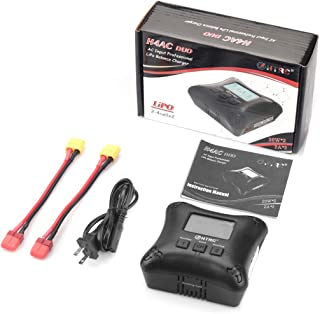 FPVKing H4AC Duo LiPo Balance Charger Mini RC Battery Charger Dual Port 20Wx2 2Ax2 for 2S 3S 4S LiPo Batteries