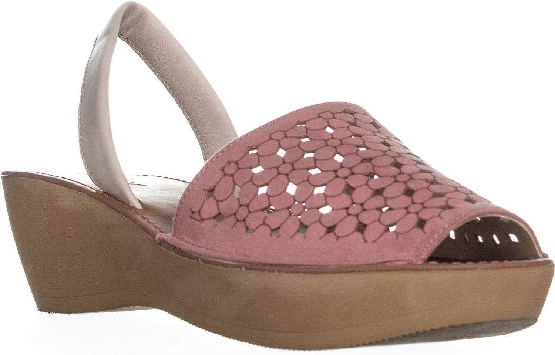 Kenneth Cole REACTION Womens Fine Glass5 Peep Toe Casual Platform Sandals