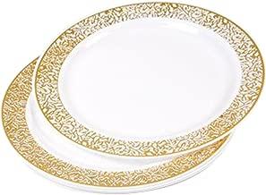 Diner Presque Parfait Lace Set of 6Plates 19cm Gold
