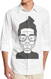 Kid Cudi Carton Clipart Men's Casual Long Sleeve Sateen Dress Shirt