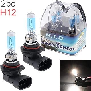 2pcs 12V H12 53W 6000K White Light Super Bright Car Xenon Halogen Lamp Auto Front Headlight Fog Bulb