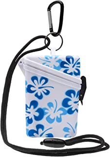 Witz Flower Keep-It-Safe 4.3in x 2.7in Secure Waterproof Container (Blue) by Witz