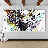 Karen Max tela ragazza moderna con immagini di fiori quadri per soggiorno componibile Home Decor Frameless size 4:32x64inch No frame