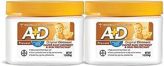 A+D Original Diaper Rash Ointment, Baby Diaper Rash Cream and Skin Protectant with Lanolin, 1 lb Jar (Pack of 2)