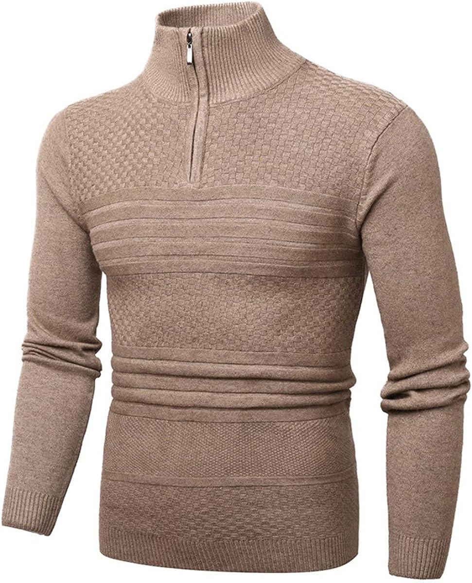 MCieloLuna Men's 1/4 Zip Sweaters Winter Warm Casual Slim Fit Knit Pullover Sweaters