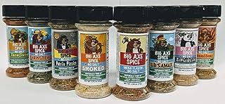 Big Axe Spice BEAR FAMILY MILD COMBO 8-PACK: Salt Free Potassium Free - Mega Flavor, Smoked, ZingiBear, UrsaMax, Patri's Pizzico, Farmstead, UmamiBear, TacoDora