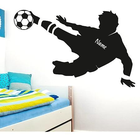 dekodino/® Wandtattoo Fu/ßball Ausr/üstung Jugendzimmer Teenager Junge Dekoration
