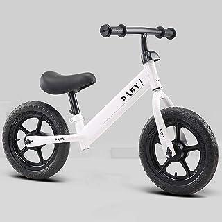 Nfudishpu Kids Balance Bike 12 Inches, No Pedal Toddler Bike, Adjustable Handlebar and Seat, Toddler Walking Bicycle for K...