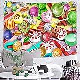 Bdhbeq Decoración de Fiesta Feliz Tapiz lámpara Arte Colgante de Pared Tapiz Sala de Estar decoración del hogar Banner