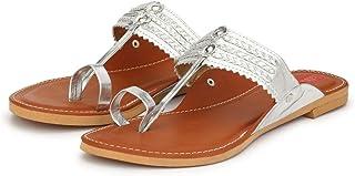 Footrendz Women's Designer Synthetic Leather Kolhapuris