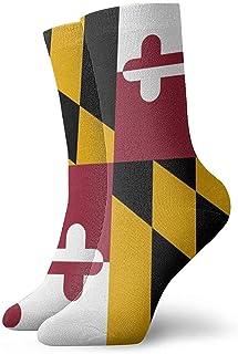 Dydan Tne, Niños Niñas Locos Divertidos Calcetines Frescos de la Bandera de Maryland Calcetines Lindos de Novedad