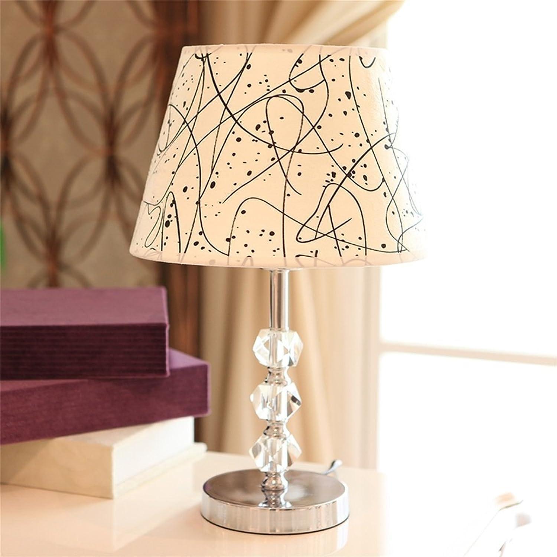 Flash-Moderne minimalistische Art und Weise Kristalltischlampe Schlafzimmer Nachttischlampen B01D8DQ9TQ | Schön geformt